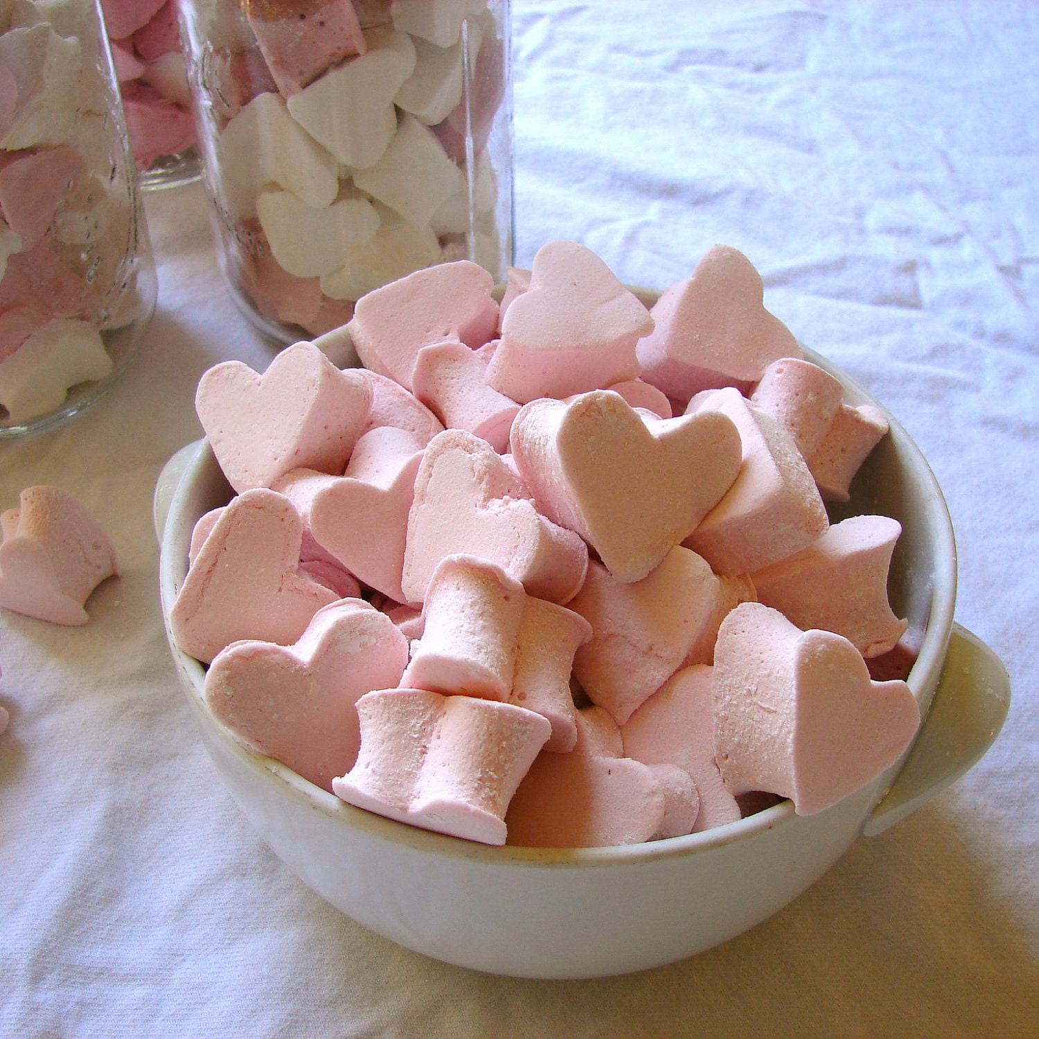 STRAWBERRY Mini Gourmet Marshmallow Hearts - 36 Count - Birthday Holiday Mitzvah Wedding Shower Party Favor - CharmiosCraftParty