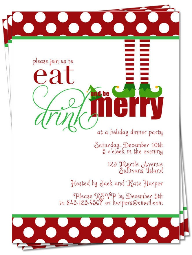 printable the original christmas elf party by palmettogreetings. Black Bedroom Furniture Sets. Home Design Ideas