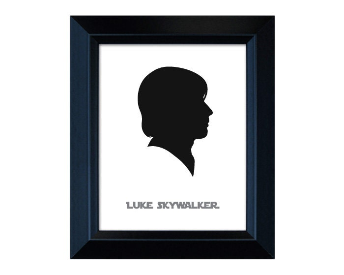 Items similar to Custom Luke Skywalker Silhouette - Star ...