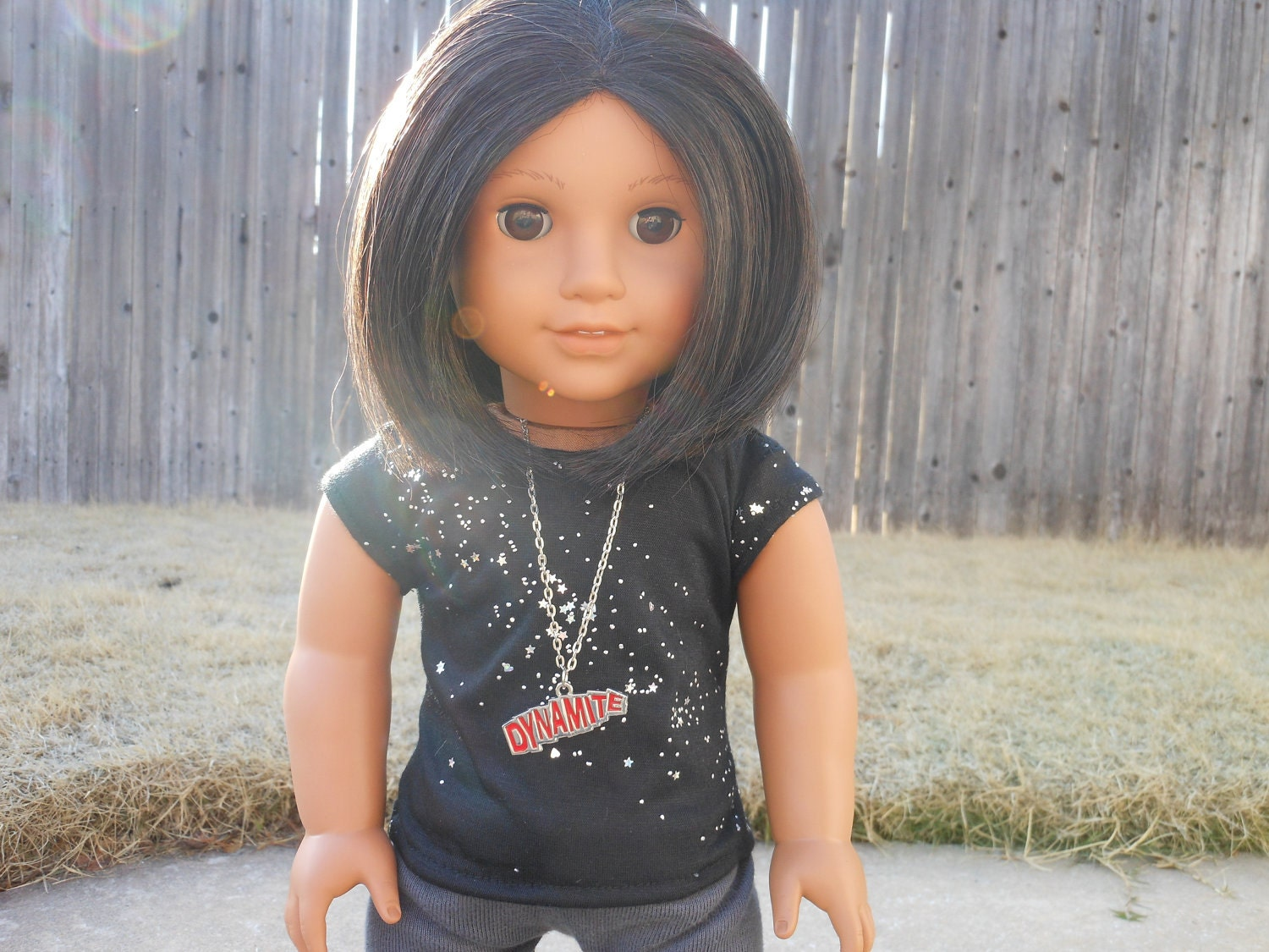 Starry Nights Tee and Dynamite Necklace for American Girl Dolls