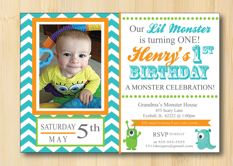 1st Birthday Invitation For Son One Little Man Custom DIGITAL – My First Birthday Invitation