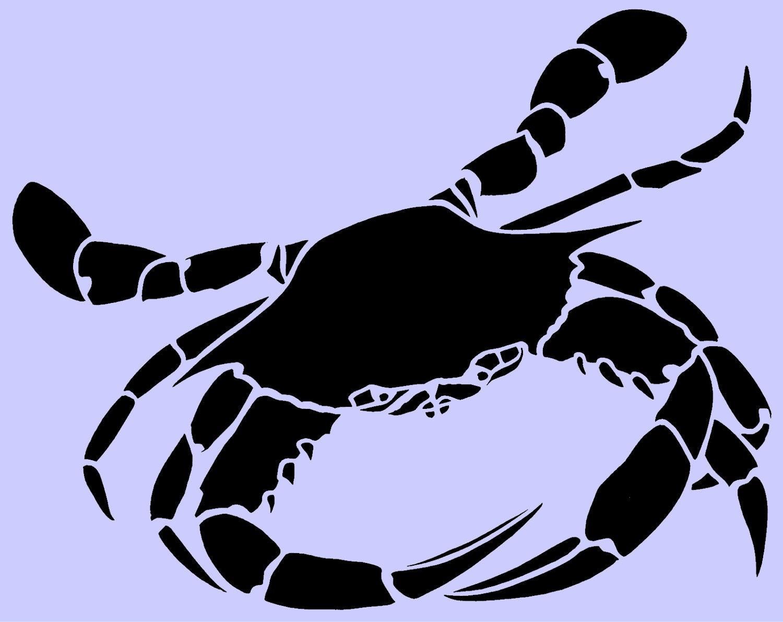 crab stencil 10x8 by artisticstencils on etsy