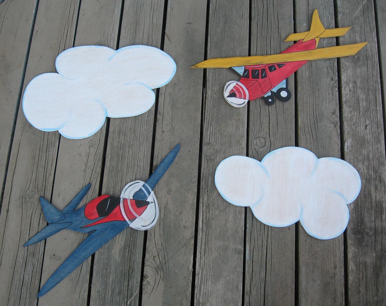 Тайсон Самолеты Дети Керамика Barn Вдохновленный древесины Mural Устанавливается Storytime АРТ