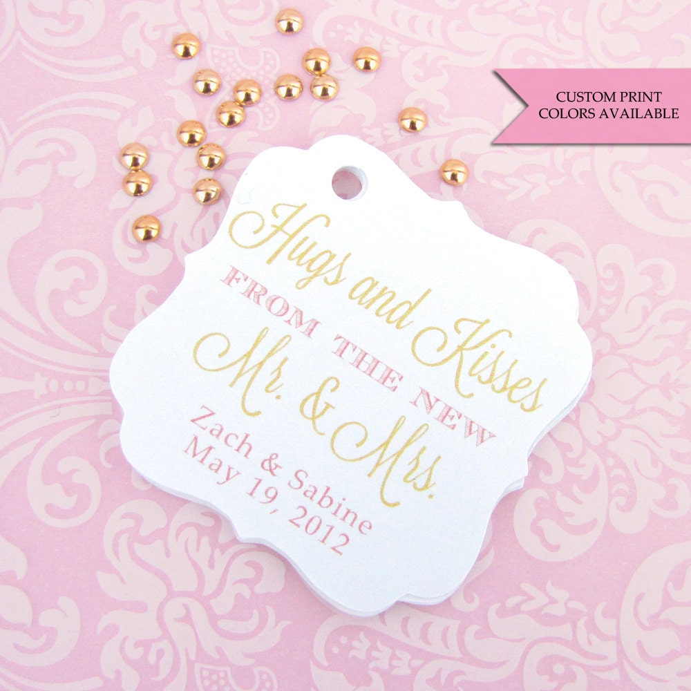 Hugs and kisses tags (30) - Hugs and kisses from mr and mrs - Wedding ...