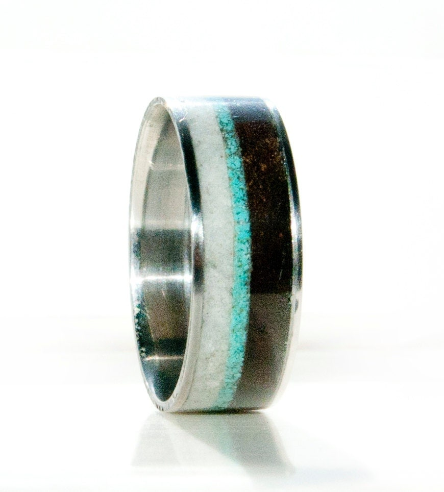 Unique Wedding Bands Men S: Mens Unique Wedding Band Wood And Antler Ring By