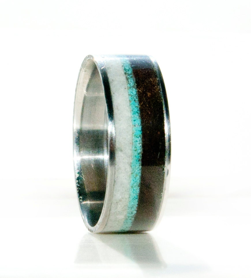 Unique Men S Wedding Bands: Mens Unique Wedding Band Wood And Antler Ring By