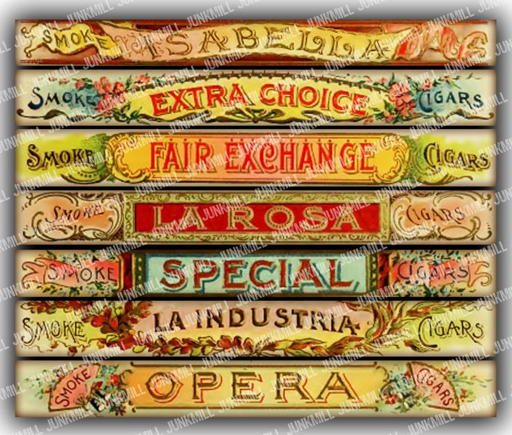 Versatile image with free printable cigar bands