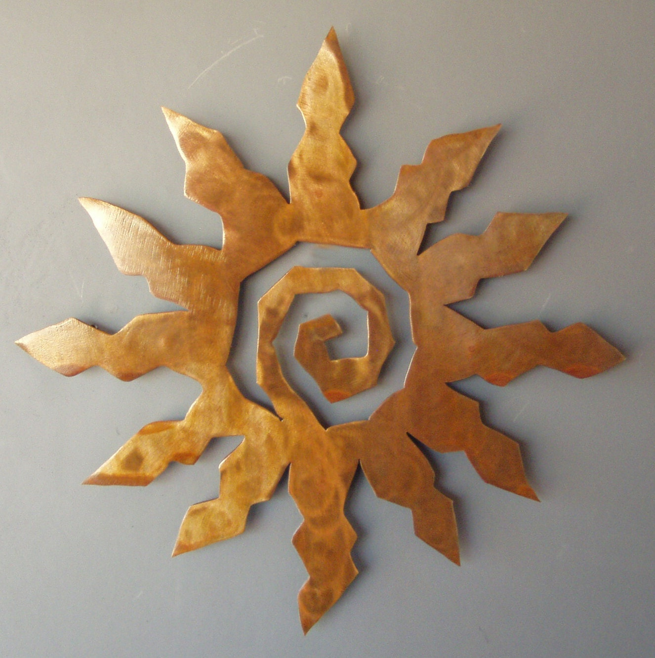 Metal Sun Burst Southwest Art Rusted Wall Hanging By