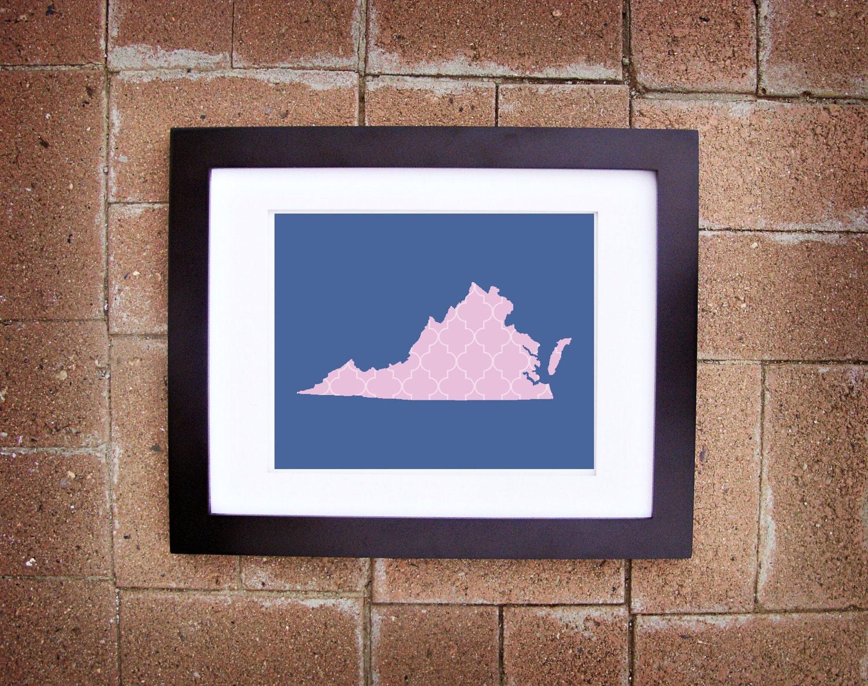 Virginia State Print - 8x10 Printable Art
