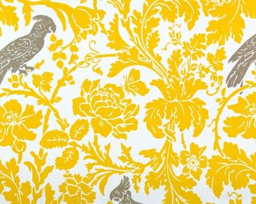 Paisley shower curtain - Damask Runner Yellow White Leaf Flower By Fantasyvintagebridal