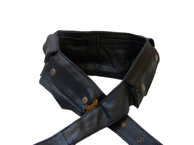secret pocket leather utility belt black 8 by earthcultured