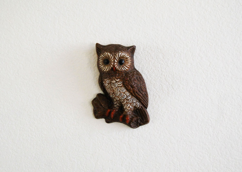 vintage 1970s OWL wall hanging - vintagemarmalade