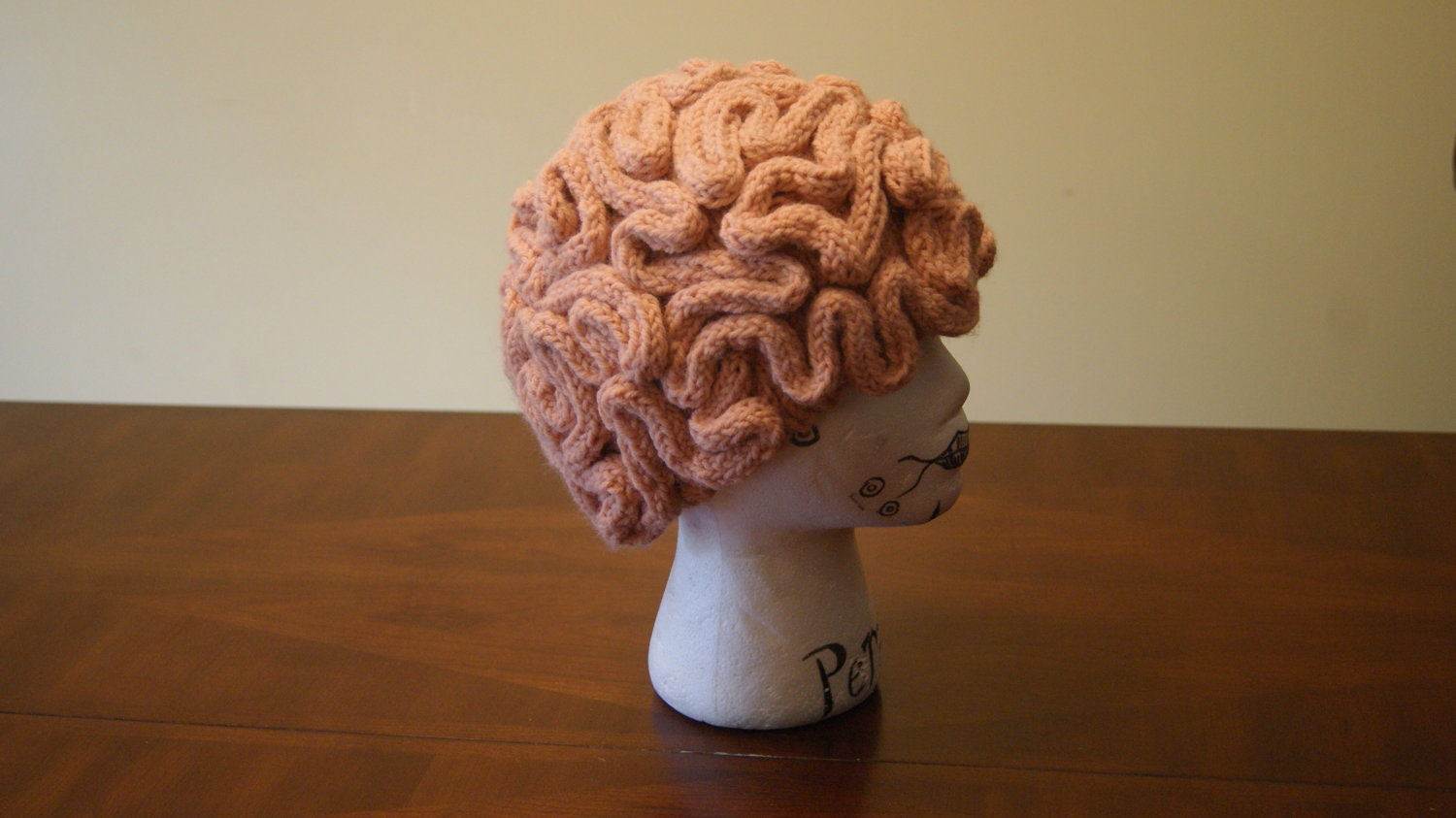 knitted brain hat by KnittedBunny on Etsy