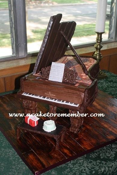 Cake Decorating Ideas Piano : Grand Piano Cake Decorating Tutorial-PDF file by ...