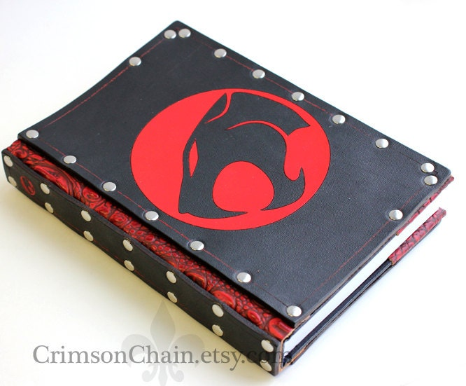 Thundercats leather sketchbook cover by Crimson Chain Leatherworks - CrimsonChain