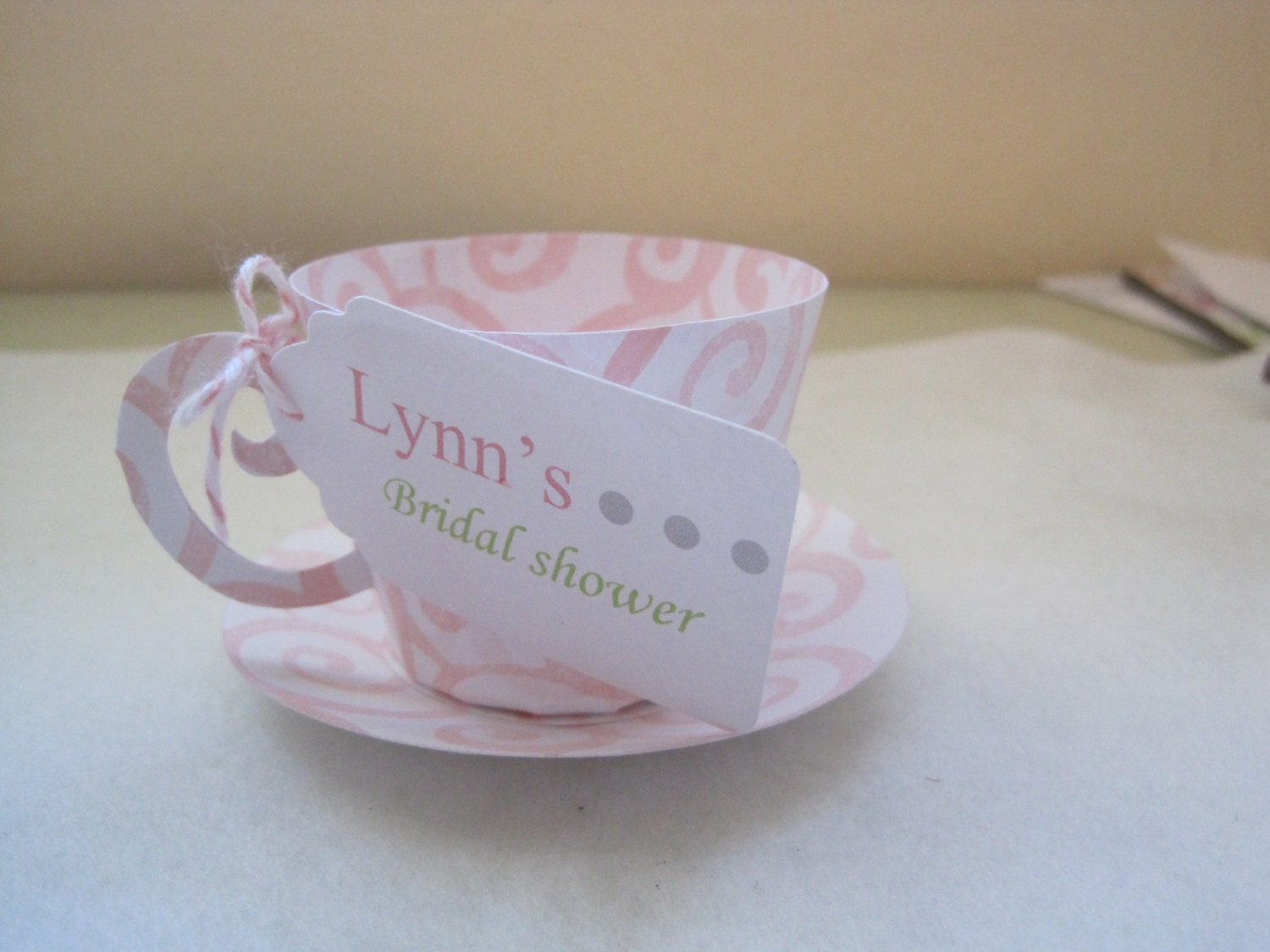 10 tea cup party favors by papermefancy on etsy for Teacup party favors