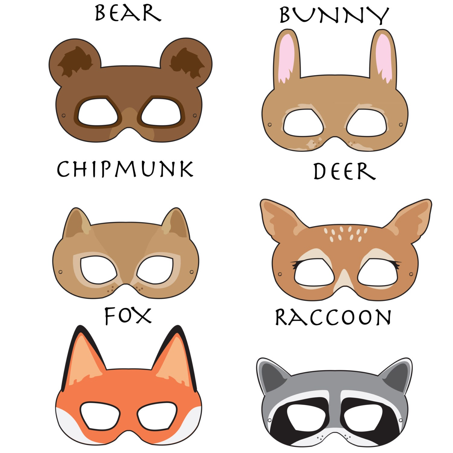 Impertinent image inside free printable animal masks