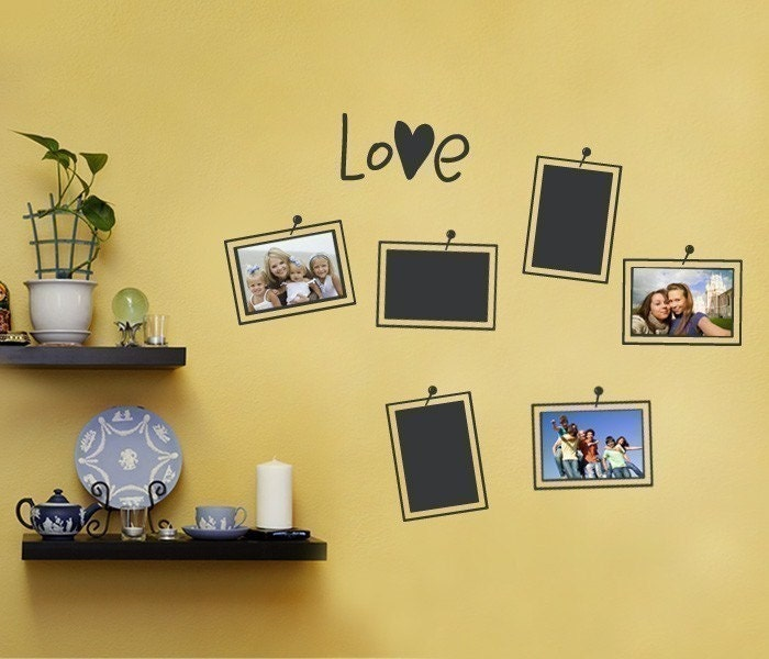 Photo frame wall decals