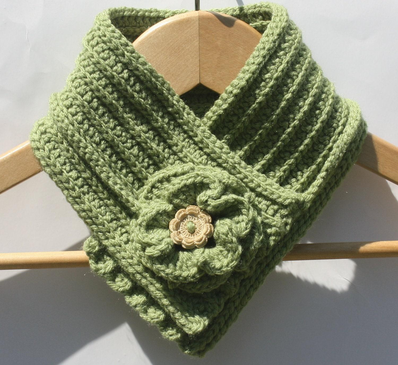 Free Crochet Neck Warmer Cowl Patterns : Items similar to Crochet Neck Warmer - Flower Scarf ...