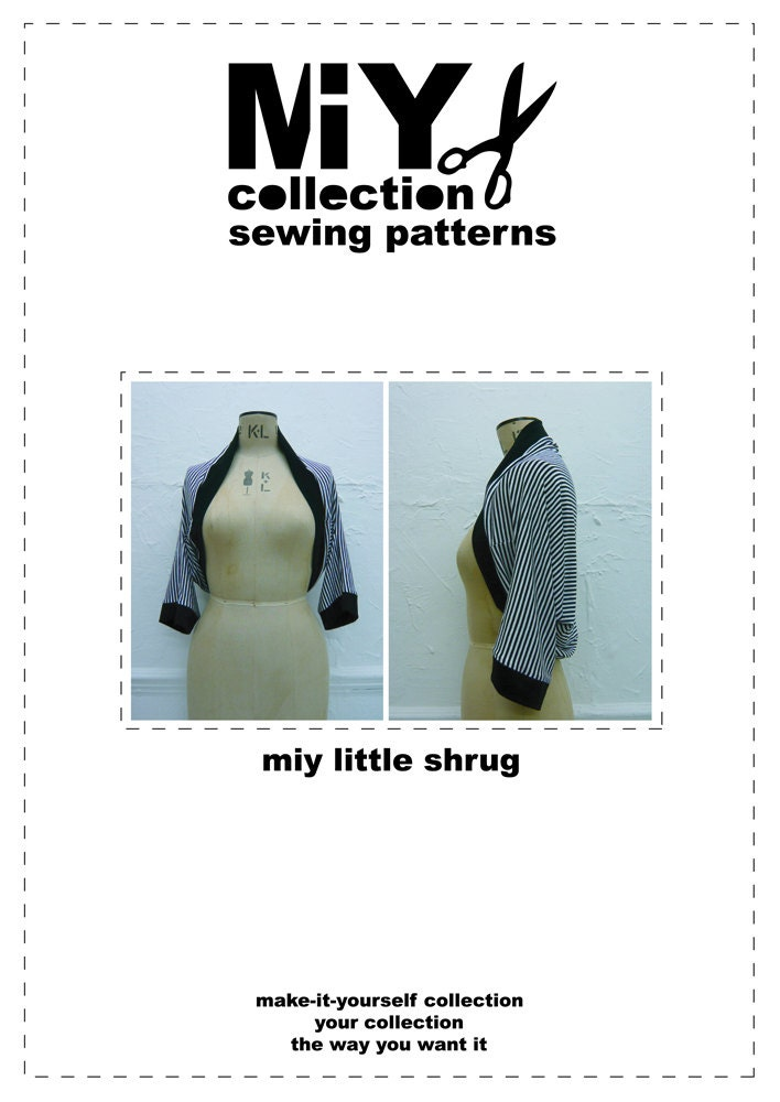 Jersey Knit Sewing Patterns : Shrug sewing pattern for jersey knit fabrics by MIYcollection