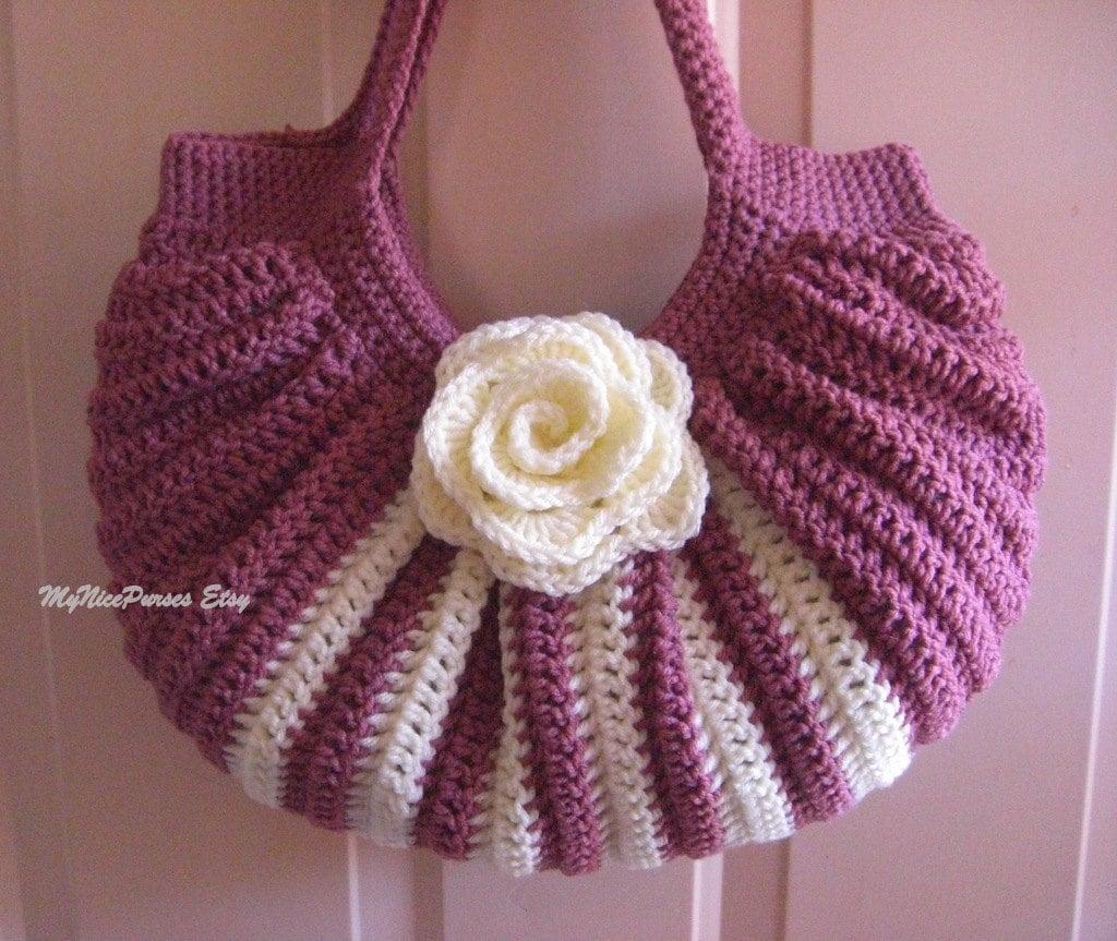 Crochet Bag Bottom : Crochet fat bottom summer shoulder bag, fashion summer/fall shoulder ...