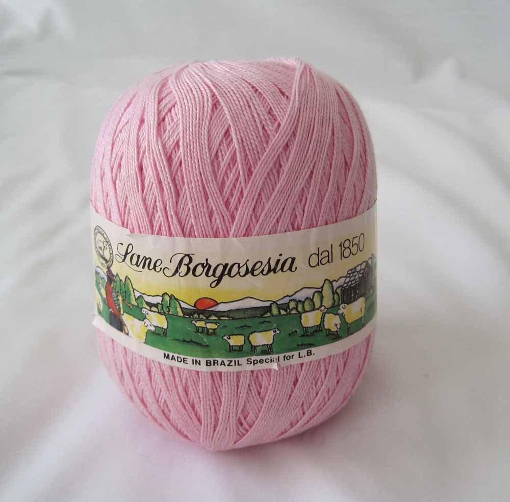 Crochet Thread Size 10 : Cotton Crochet Thread Pink Size 10 Big by LingonberriesAndMoss