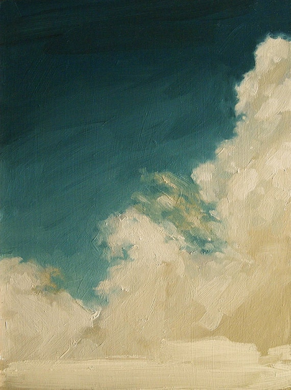 Rising Clouds, Extra Large Giclee Art Poster Print of  Original Oil Painting - kaisamuelsdavis