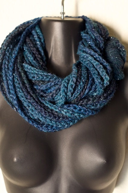 Blue Nebula Infiniti Lotus Lupe Double Wrap Scarf