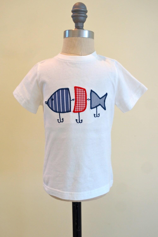 Fishing lure boys applique shirt boys fishing by for Baby fishing shirts