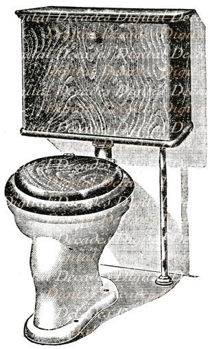 Bathroom Water Closet Potty Loo Toilet Restroom By