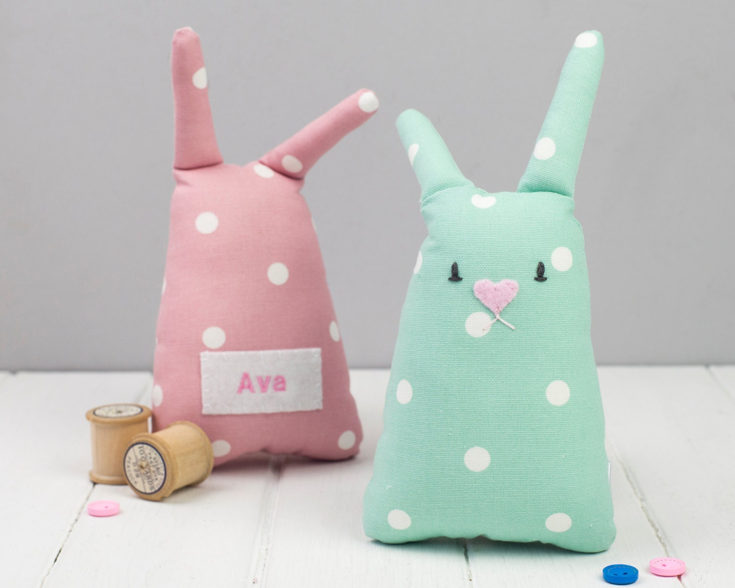 Baby Bunny Toy  Personalised Bunny Toy  Bunny Christening Gift  Bunny Toy for Newborn Baby