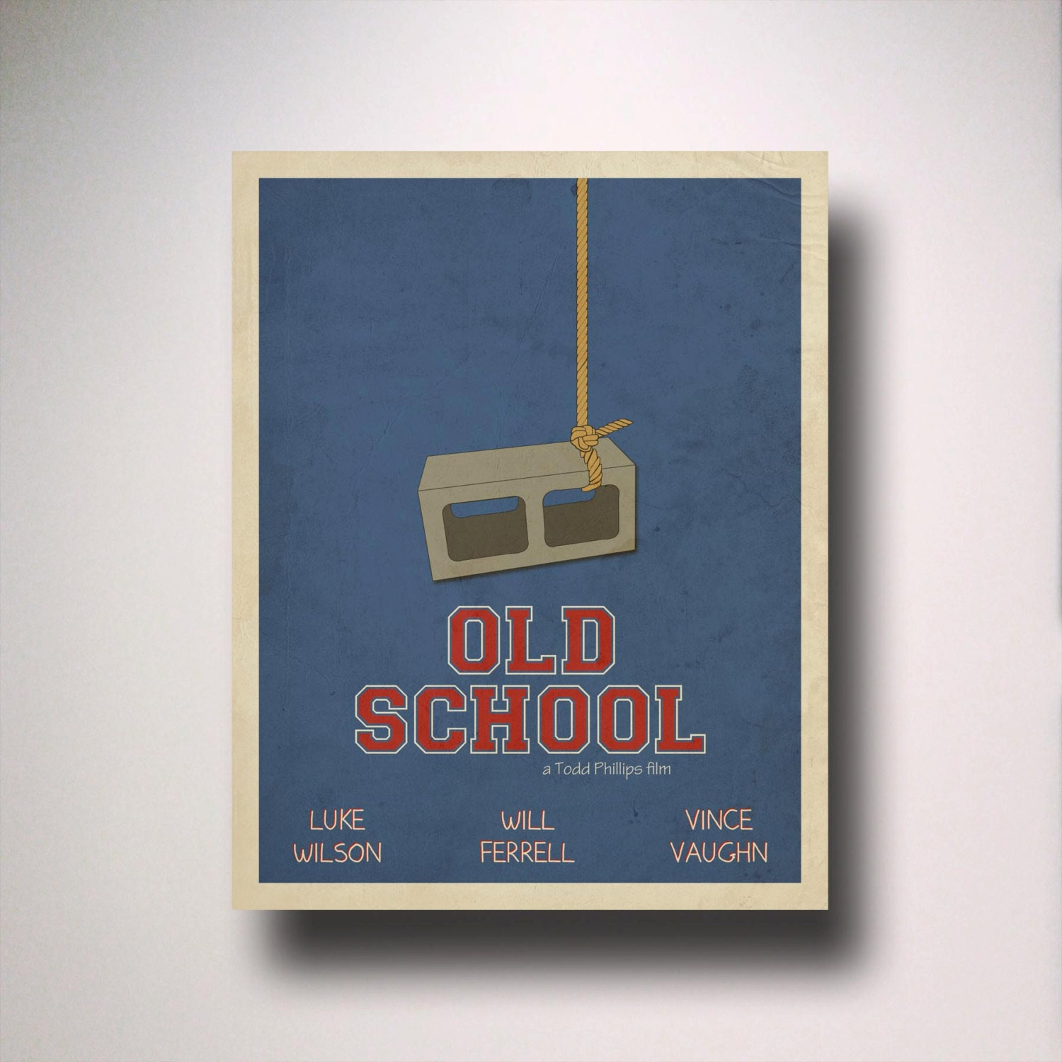 Old School Inspired Minimalist Movie Poster By