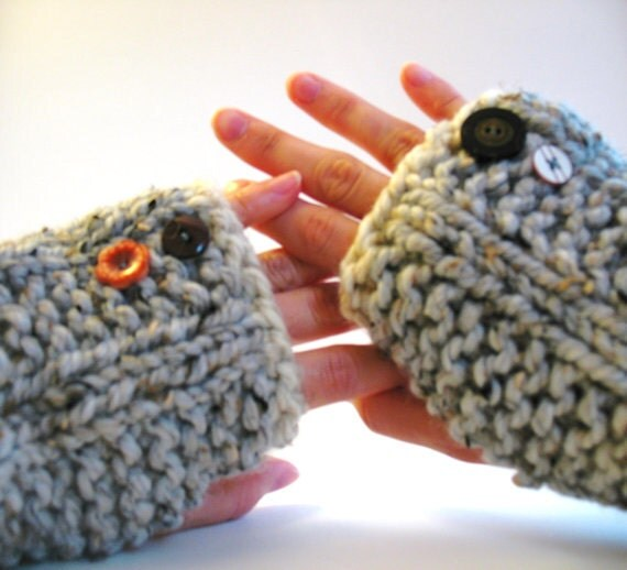 Fingerless Gloves Knitting Pattern Beginner : Items similar to Knit PATTERN Fingerless Gloves Mitts - PDF - Beginner Level ...