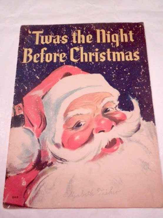 night vintage book christmas the before