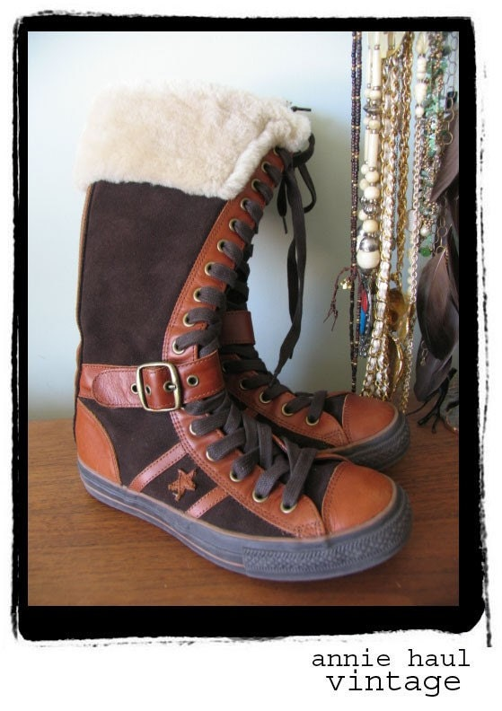 converse knee high lace up boots mens 7 5 womens 9 5 by