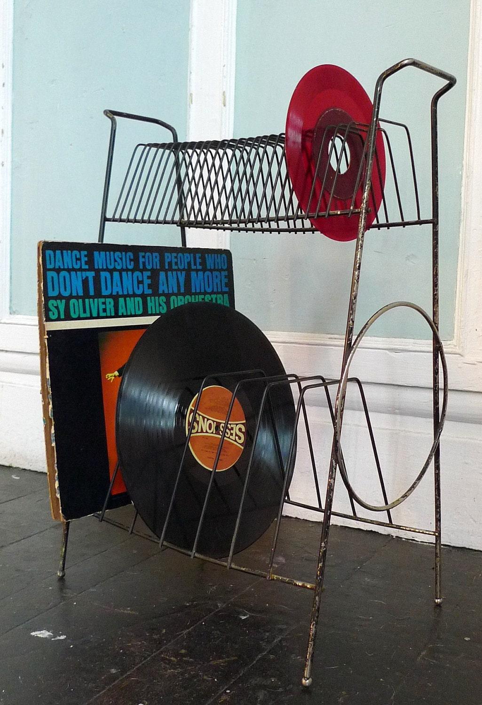 Vinyl Record Album Holder 33s And 45s 1950s By Cozystudio