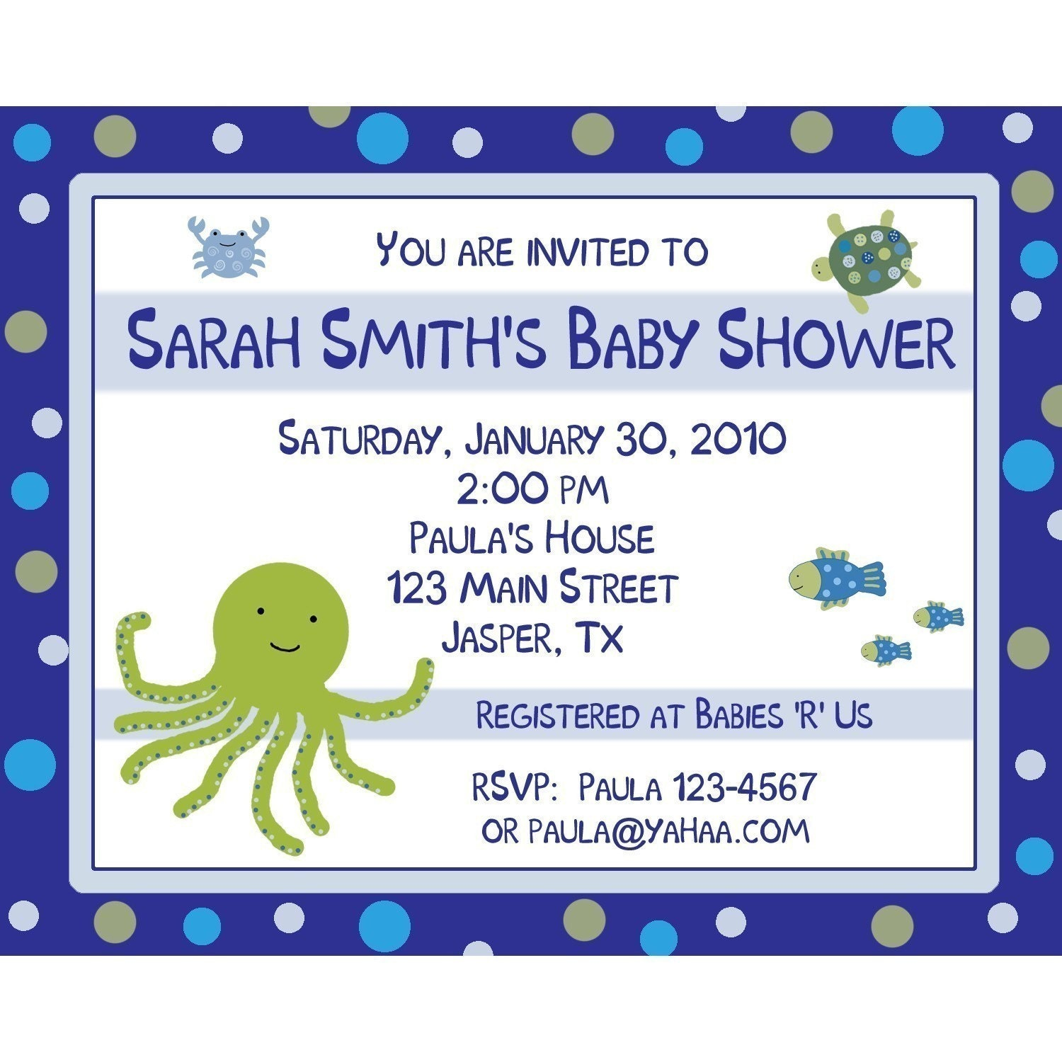 20 baby shower invitations under the sea by partyplace on etsy