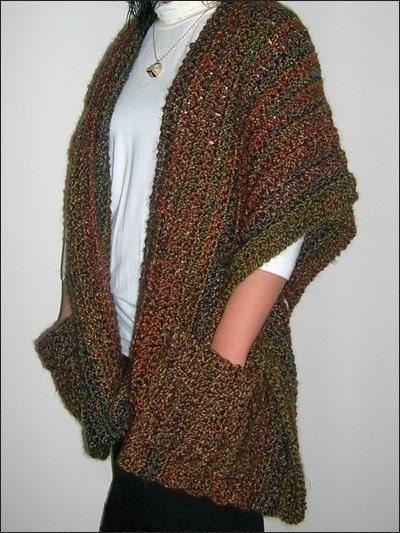 Super Simple Shaped Shawl crochet pdf pattern by BellaCrochet