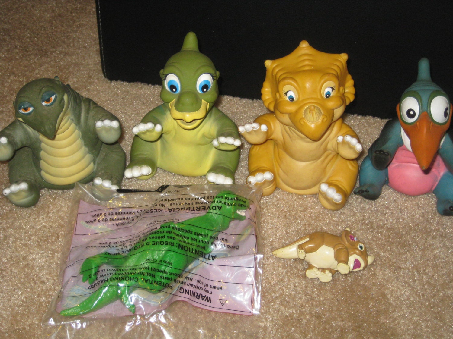 Land Before Time Toys : Lot of land before time toys puppets by retroplayland