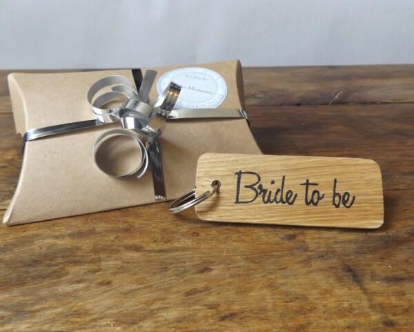 Bride to be keyring  Oak wood keyring  Wedding keyring  Wedding Gift  Bride giftBride keepsakewedding keepsake