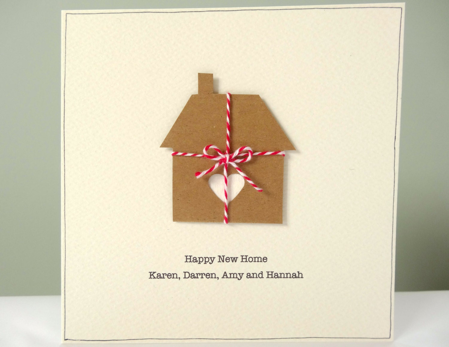 new home card rustic housewarming cards personalised happy new ...
