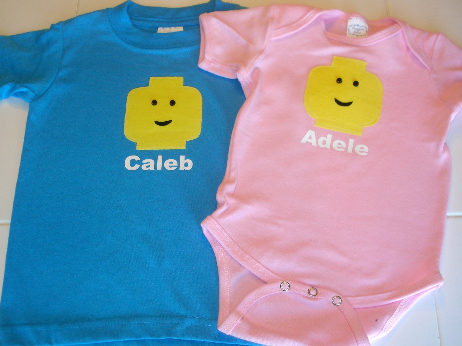 2 Lego Onesies for Siblings or Twins - torilynn817