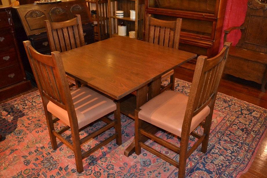 Mission Oak Drop leaf Dining Table Kitchen by OakParkAntiques : il570xN330678333 from www.etsy.com size 570 x 380 jpeg 84kB