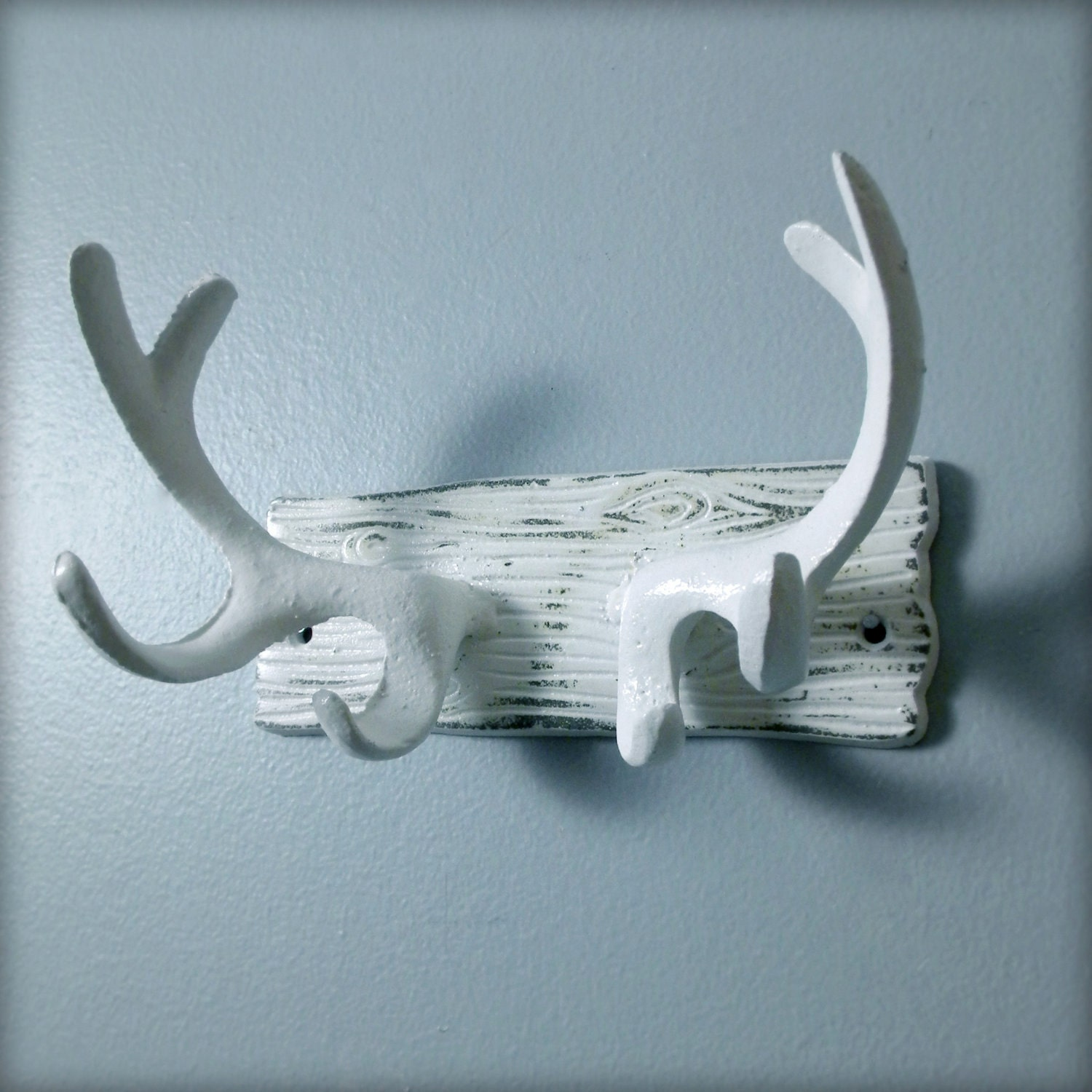 cast iron antlers wall hook