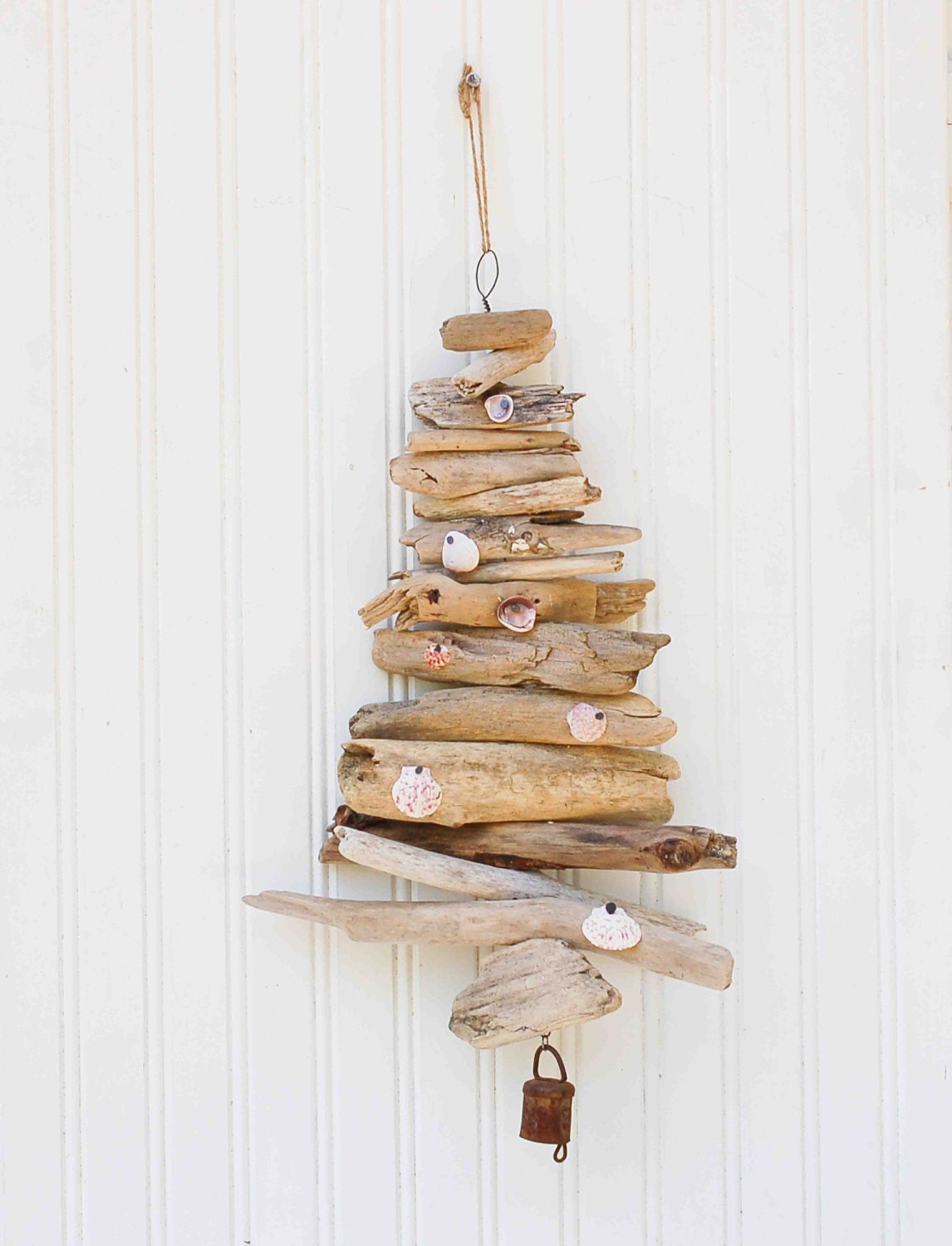 Unavailable listing on etsy for How to make a hanging driftwood christmas tree