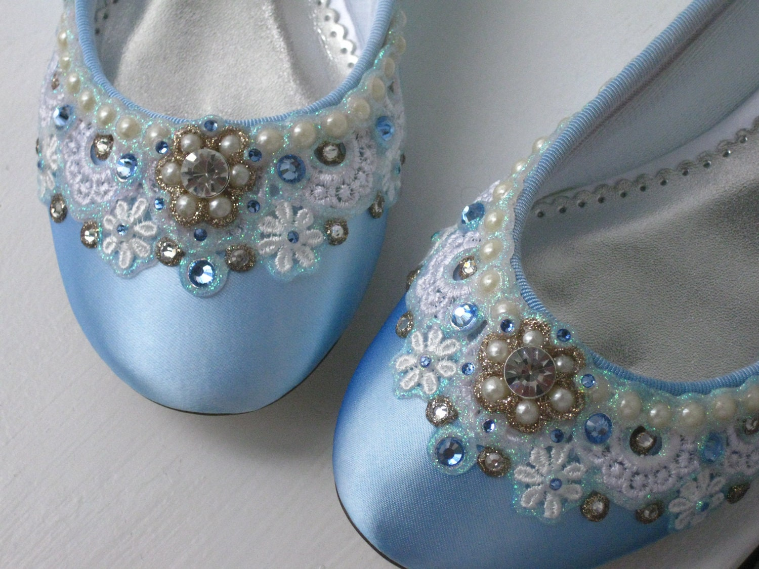 blue sugar bridal ballet flat wedding shoes any by beholdenbridal