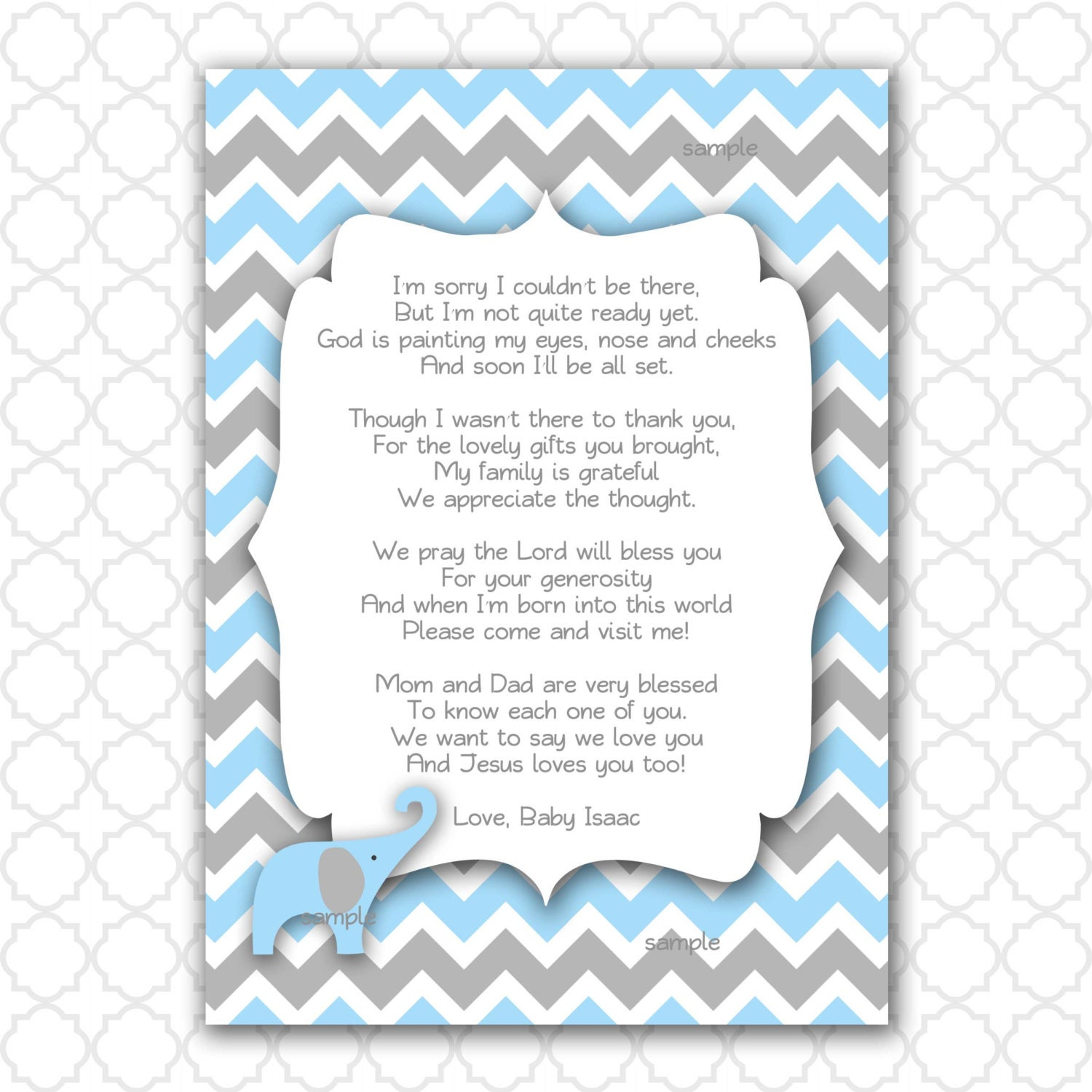 baby shower thank you poems ready copy and use