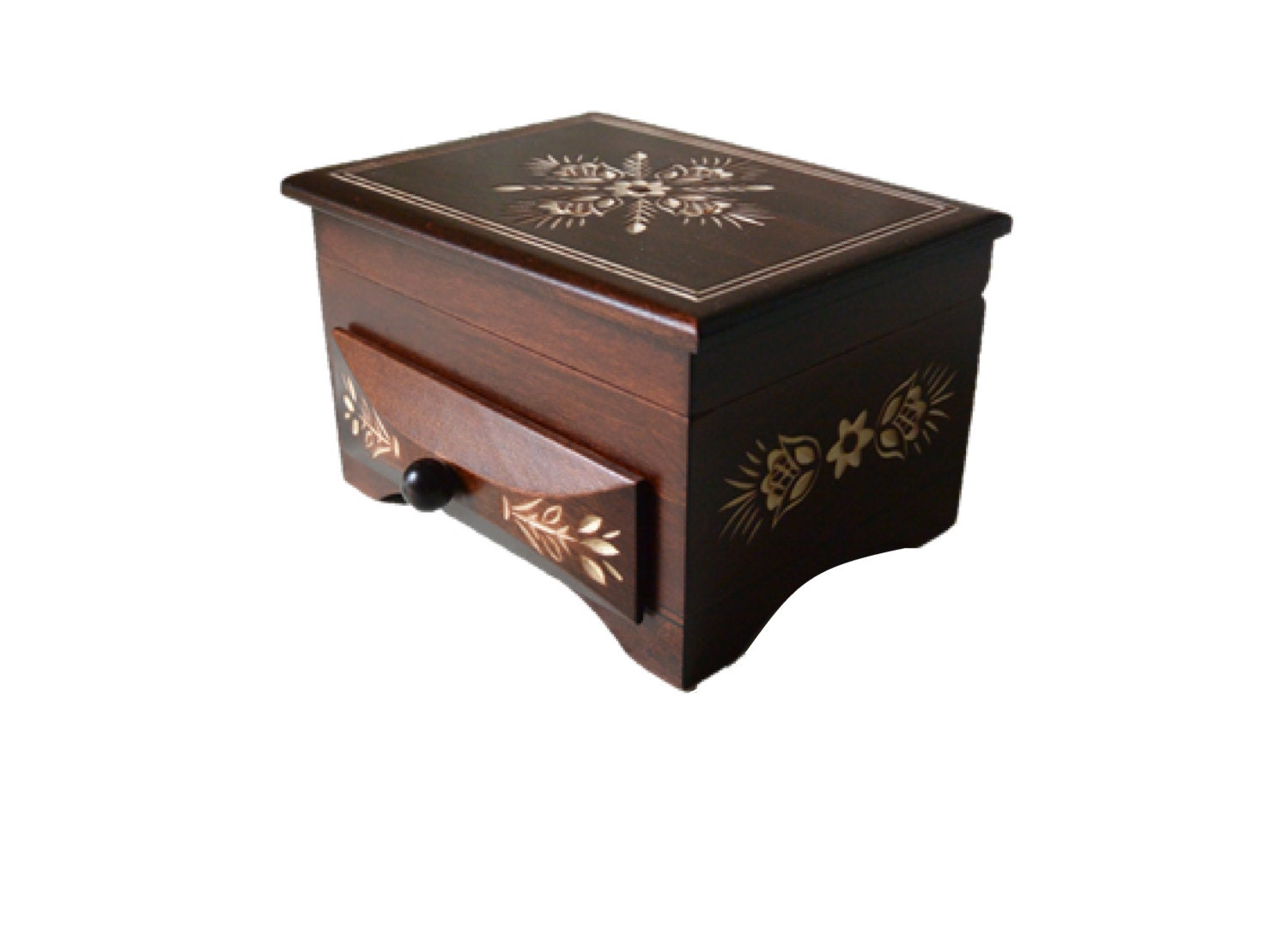 Handmade wooden jewellery chestkeepsake box Small drawer box Jewelery storage box Wood box