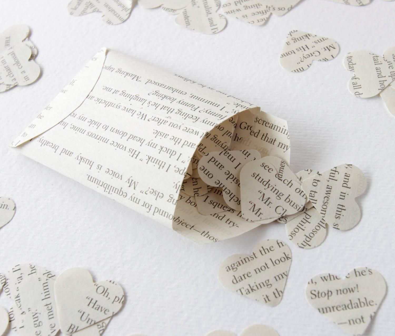 Harry Potter paper confetti Paper hearts Scrapbook confetti Recycled book confetti Wedding confetti