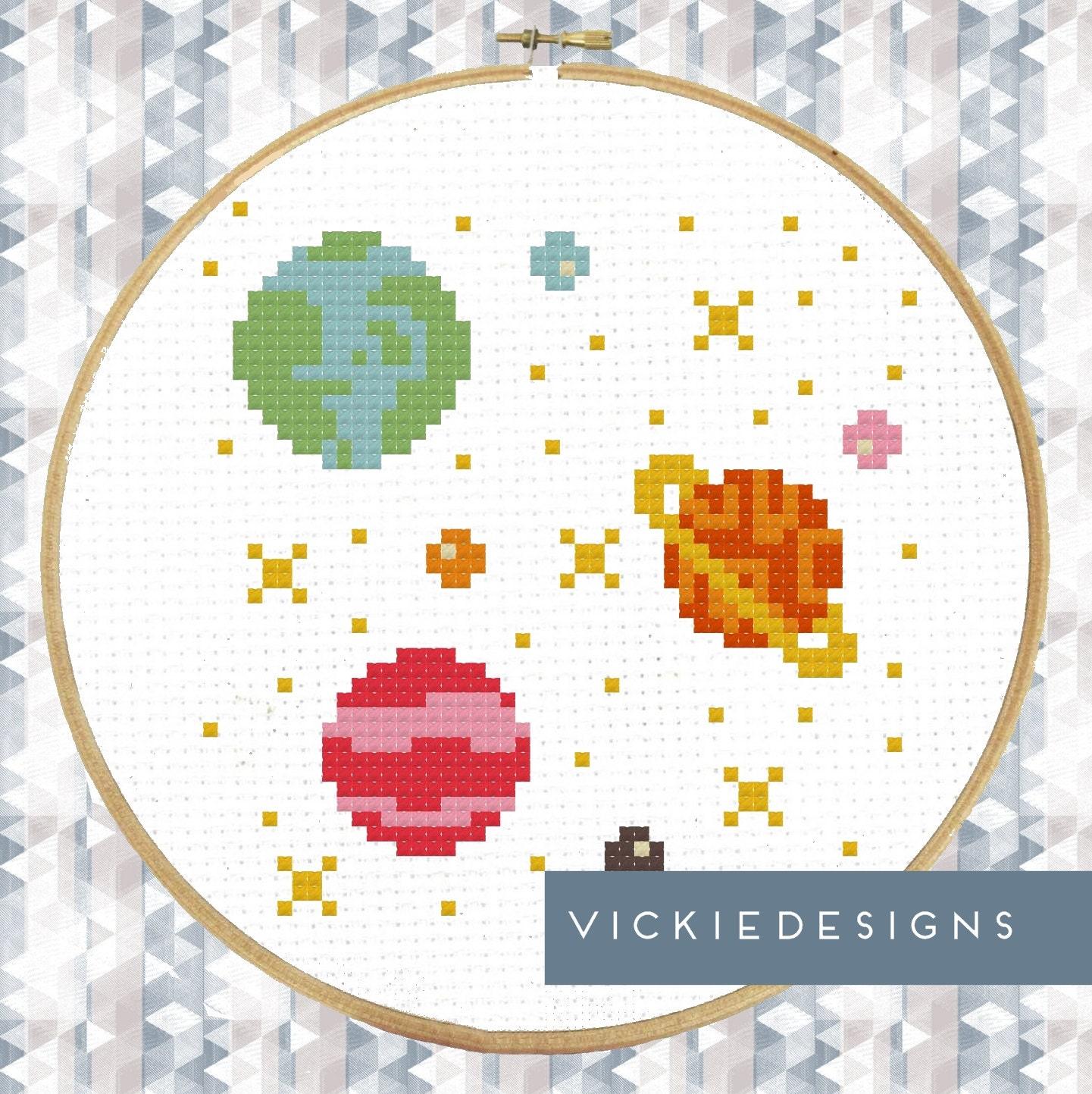 Схемы вышивки крестом планета